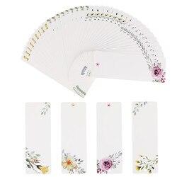 40pcs  DIY Creative Retro Flower Bookmark Book Mark Papelaria Message Cards Boekenlegger Bookmarks For Books 01437