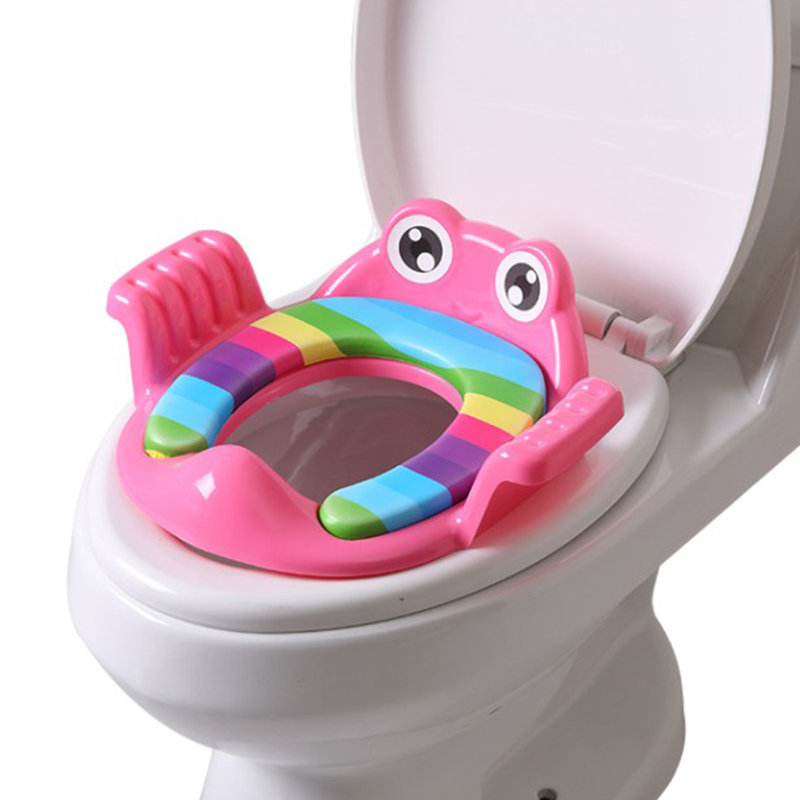 Children'S Toilet Seat Toilet Potty Training Cartoon Aid Baby Seat Washer Men And Women Baby Seat Ring Pink