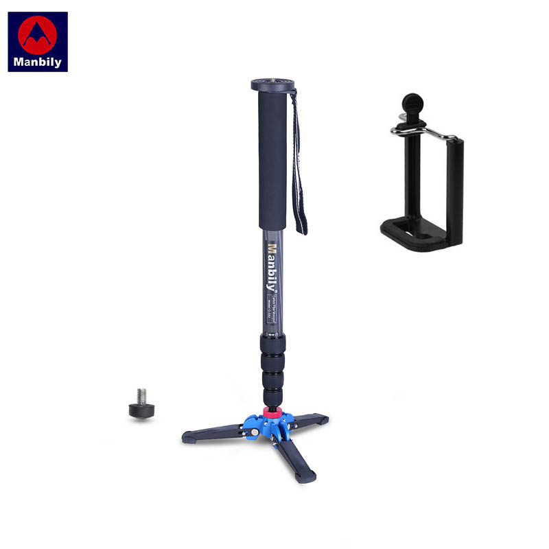 "Manbily C 333 165cm/65"" Professional DSLR Unipod Monopod with M1 3 Legs Feet Stand Base 3/8""Adapter for Canon Nikon Sony Cameras-in Tripods from Consumer Electronics    1"