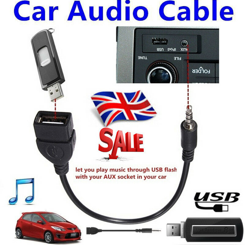 Car 3 5mm Aux Audio Cd Interface Adapter Cable For Mazda 2