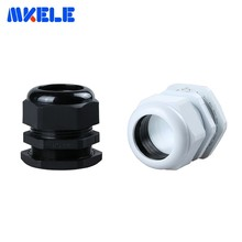 5pcs/lots Cable Gland Pg42 Black White Plastic Nylon Waterproof Cable Glands Joints Ip68 Cable Connector For 32-38mm Cable
