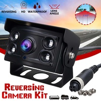 12 24V CCD 150° 4 LED Night Vision Waterproof Rear View Reverse Camera Truck Lorry Bus Vehicle Cameras