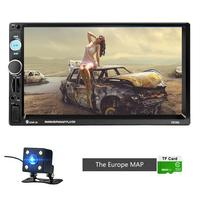 NEW Style 2 Din 7 Inch HD Car MP5 Radio GPS Navigation Player Autoradio Bluetooth AUX MP3 Stereo FM Audio USB Rear View Camera
