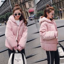 2018 New Winter Jacket Women Hooded Parka Coats Female Long Sleeve Thick Warm Snow Wear Jacket Coat Mujer Outwear Plus Size