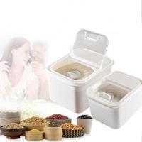 5 10kg Kitchen PP Storage Box Rice Grains Beans Storage Contain Sealed Home Organizer Food Container Refrigerator Storage Boxes