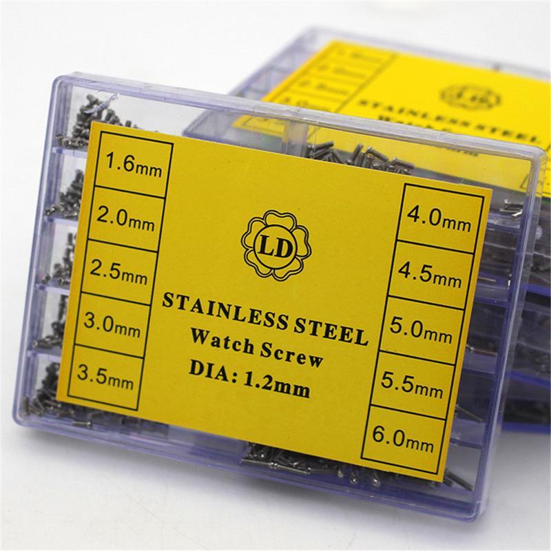 1 Box 10 Größe 500-700 Stücke Edelstahl Schrauben Reparatur Teil Werkzeuge Für Uhr Uhr Stahl Kleine Schrauben Muttern Sortiment Reparatur Kit Zu Den Ersten äHnlichen Produkten ZäHlen
