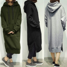 30b4f1b04d2 Casual Women Plus Size Spring Autumn Long Pullover Hoodie Fleece Hooded Sweatshirt  Dress(China). 7 Colors Available