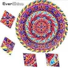 EverShine Diamond Painting Special Shaped Flowers Diamond Embroidery Rhinestones Mandala Cross Stitch Diamond Mosaic Home Decor