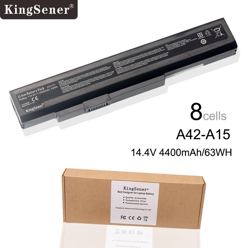 KingSener New A42-A15 Laptop Battery For MSI A6400 CR640 CX640 For Medion E6221 E6227 P6815 P6634 X6815 A32-A15 A41-A15 A42-A15 motorcycle aluminum cooler radiator for yamaha fz6 fz6n fz6 n fz6s 2006 2007 2008 2009 2010