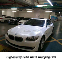Glossy Pearl White gloss Vinyl Wrap With Air Bubble Free Gloss Pearl Film For Car Styling Vehicle Stretch invariant matte