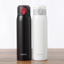 Garrafa térmica inteligente viomi, garrafa de água, original, aço inoxidável, 24 horas, garrafa térmica inteligente de mão única, 65