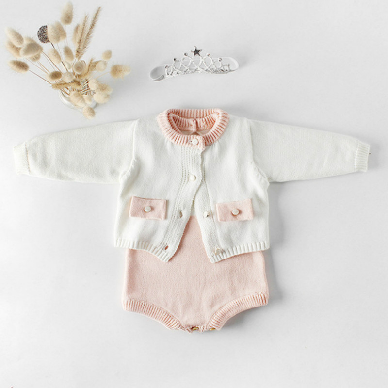 Baby Knitted Clothes Toddler Girl Romper Jumpsuit Cotton ...