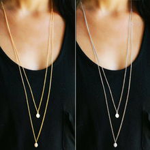 Fashion necklaces for women 2019 statement long chokers pendants gold sliver accessories