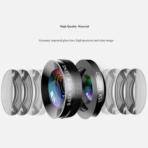 Image 3 - 4 ב 1 עדשת טלפון 0.63X רחב זווית מאקרו עין דג טלה זום עדשה עבור Samsung S8 S9 בתוספת טלפון מצלמה עדשת קיט
