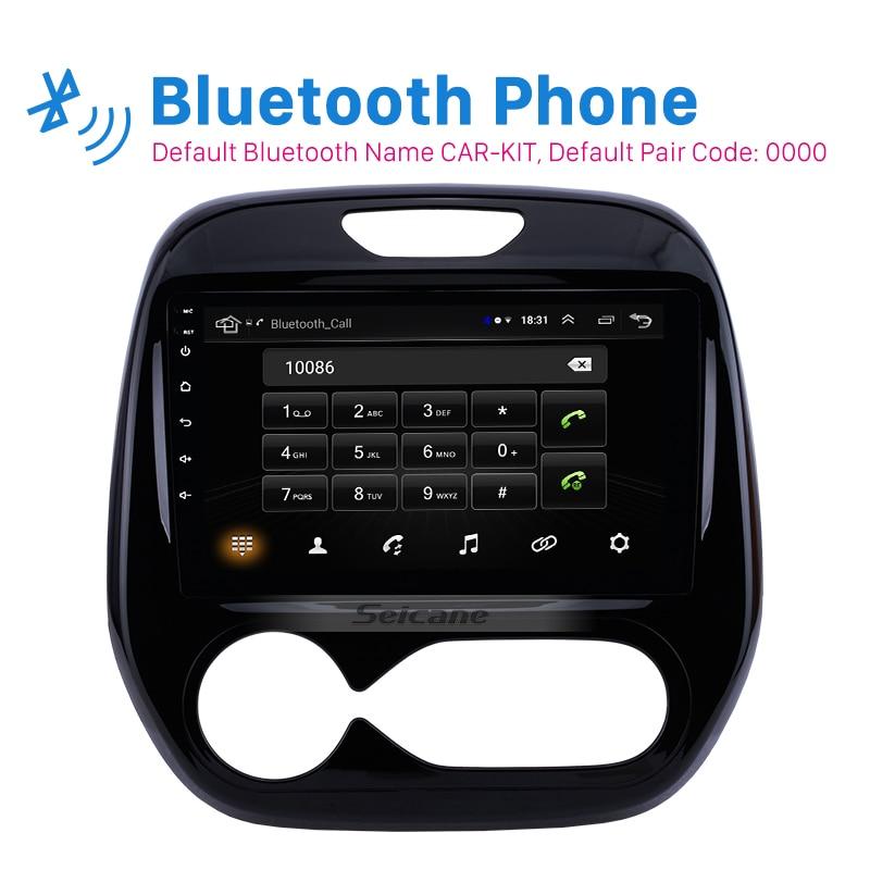 Seicane Android 8.1 pour Renault Captur CLIO Samsung QM3 manuel A/C 2011-2016 autoradio 2din GPS 9 pouces lecteur multimédia de voiture