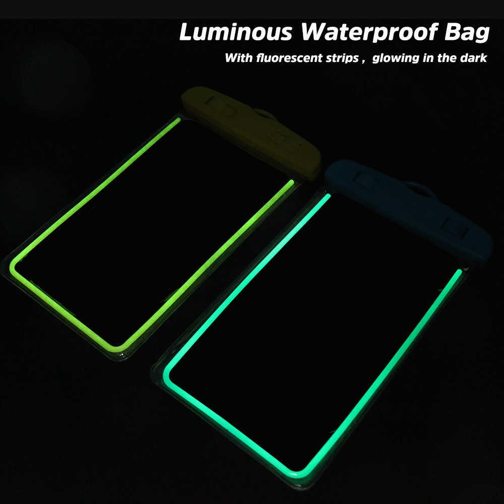 Kisscase Túi Chống Nước Điện Thoại Dành Cho Xiaomi MI9 Redmi Note 7 Bơi Dành Cho Umidigi X A5 Pro Ốp Lưng Điện Thoại samsung A40 A50 A70 A8