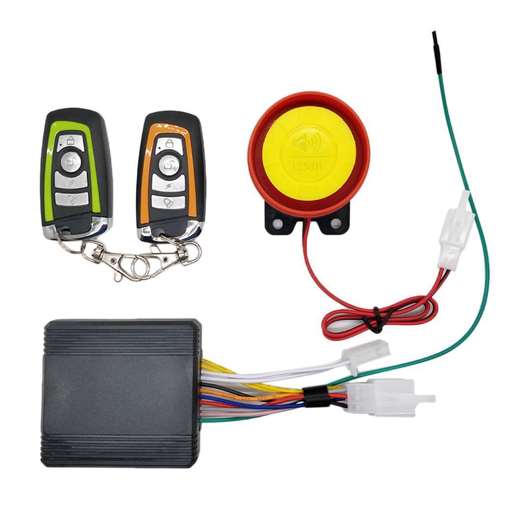 General Motorcycle Anti-theft Alarm Security Speaker Remote Control Key Waterproof Silicone, Super Waterproof