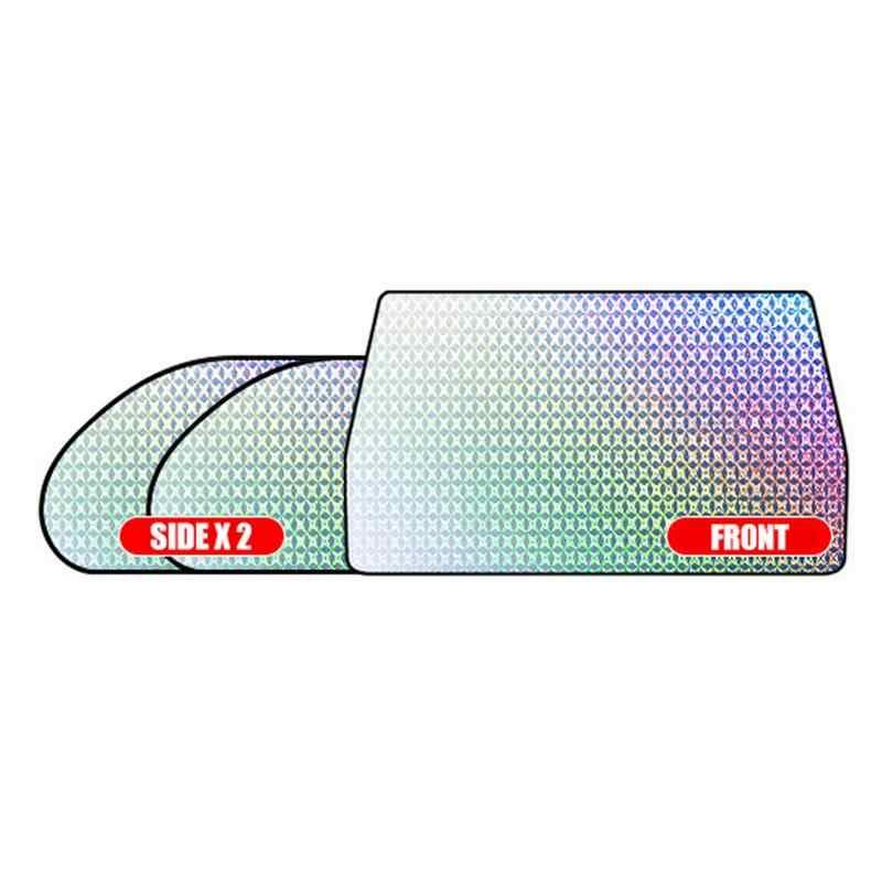 Reflector de Calor y Sol UV Zooarts Parasol retr/áctil para Parabrisas de Coche