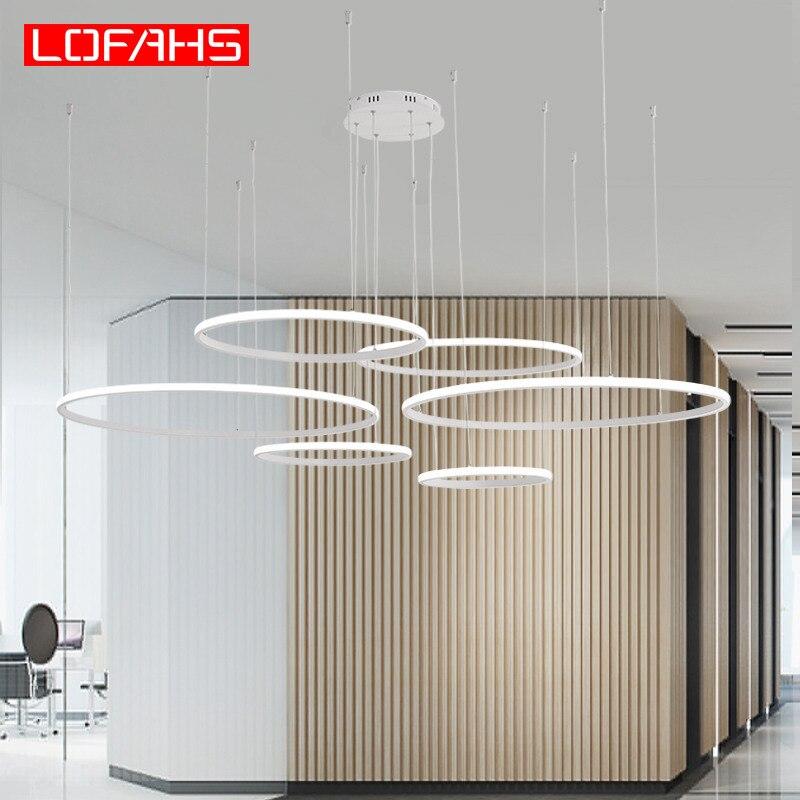 LOFAHS Creative Modern Led Chandelier For Living Room Bedroom Dining Room Circle Frame Rings LED Chandeliers Lighting