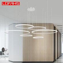 LOFAHS Creative modern led chandelier For Living Room Bedroom Dining Circle Frame rings LED Chandeliers lighting