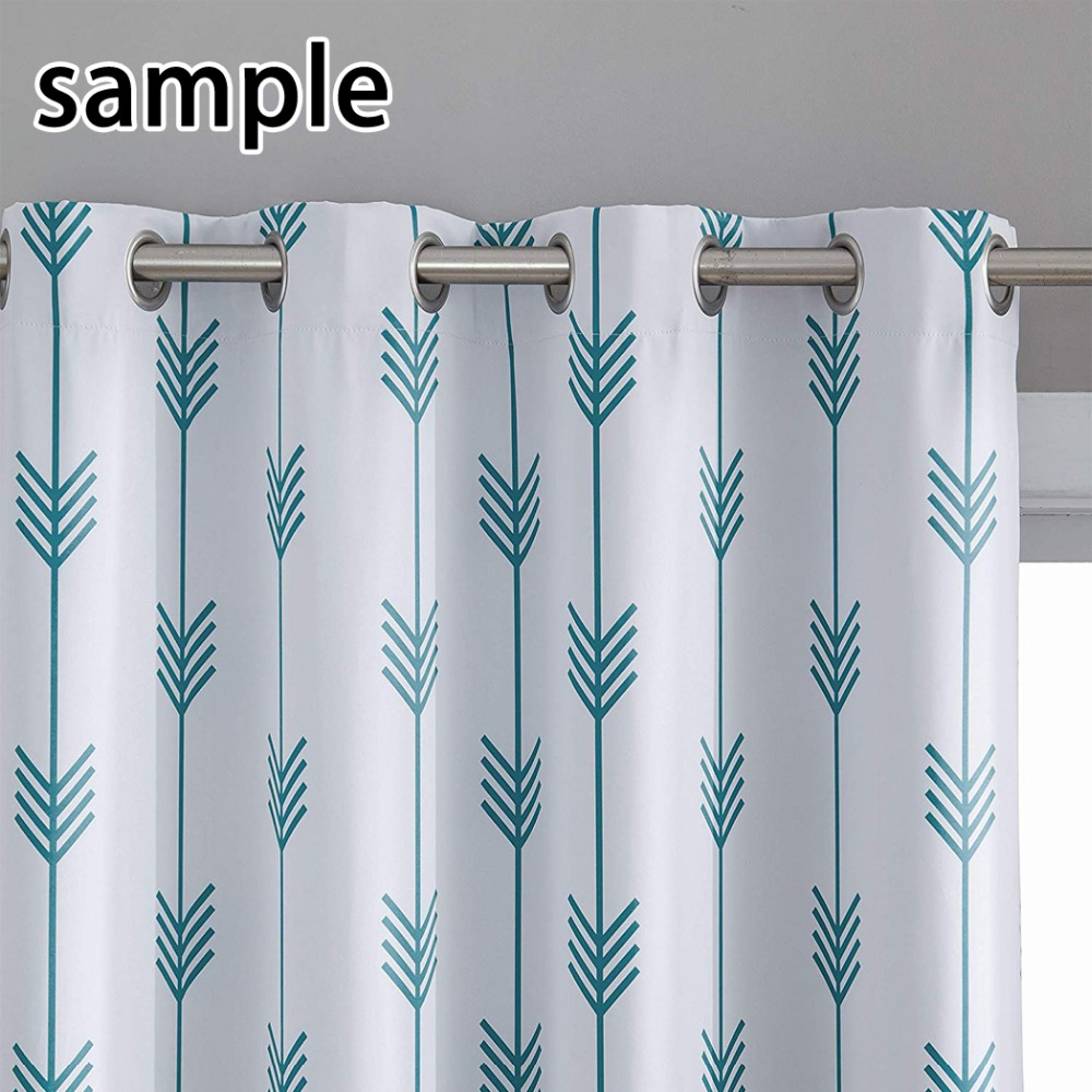 HommomH Curtains 2 Panel Grommet Top Darkening Blackout Room Colorful Elephant Book Mandala Pattern in Curtains from Home Garden