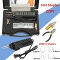 Новый 220-250V горячего степлера авто бампер пластиковая Сварочная горелка обтекатель авто инструмент сварочный аппарат 0,6/0,8 мм + 200 скобы
