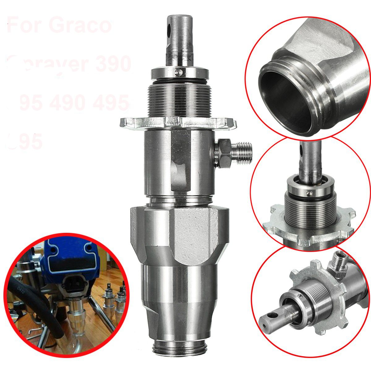 1PC Wear-resisting Stainless Steel Paint Pump Replacement Of Airless Spraying Machine For Sprayer 390 395 490 495 595 Sprayer