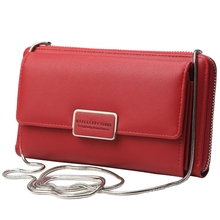купить Ladies Wallet Korean Version Multi-Function Zipper Clutch Bag Shoulder Versatile Messenger Bag Handbag по цене 784.18 рублей