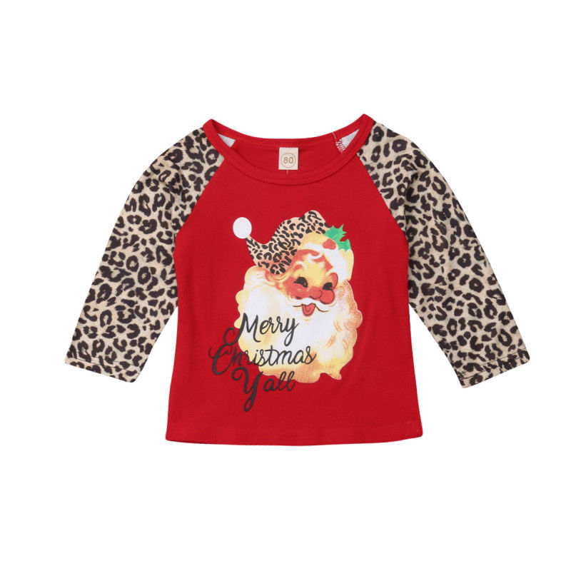 Matching Family Outfits 2018 Multitrust Brand Family Matching Mom Adult Kid Santa Xmas Novelty Christmas Blouse Tee T-shirt Christmas Autumn Winter Tops Aromatic Character And Agreeable Taste