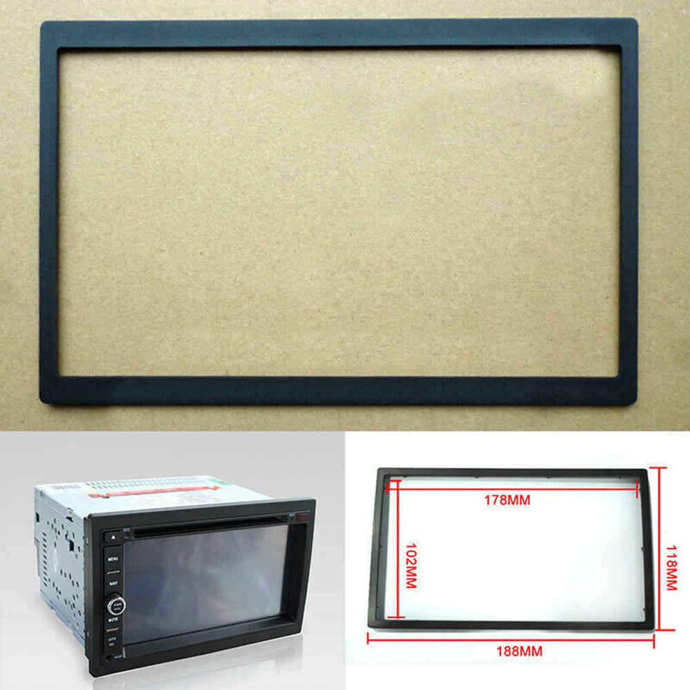 1PCS Din Car Stereo Install Dash Bezel Panel Mounting Frame for Car Radio DVD Player Car Audio Refit Frame 178*102mm