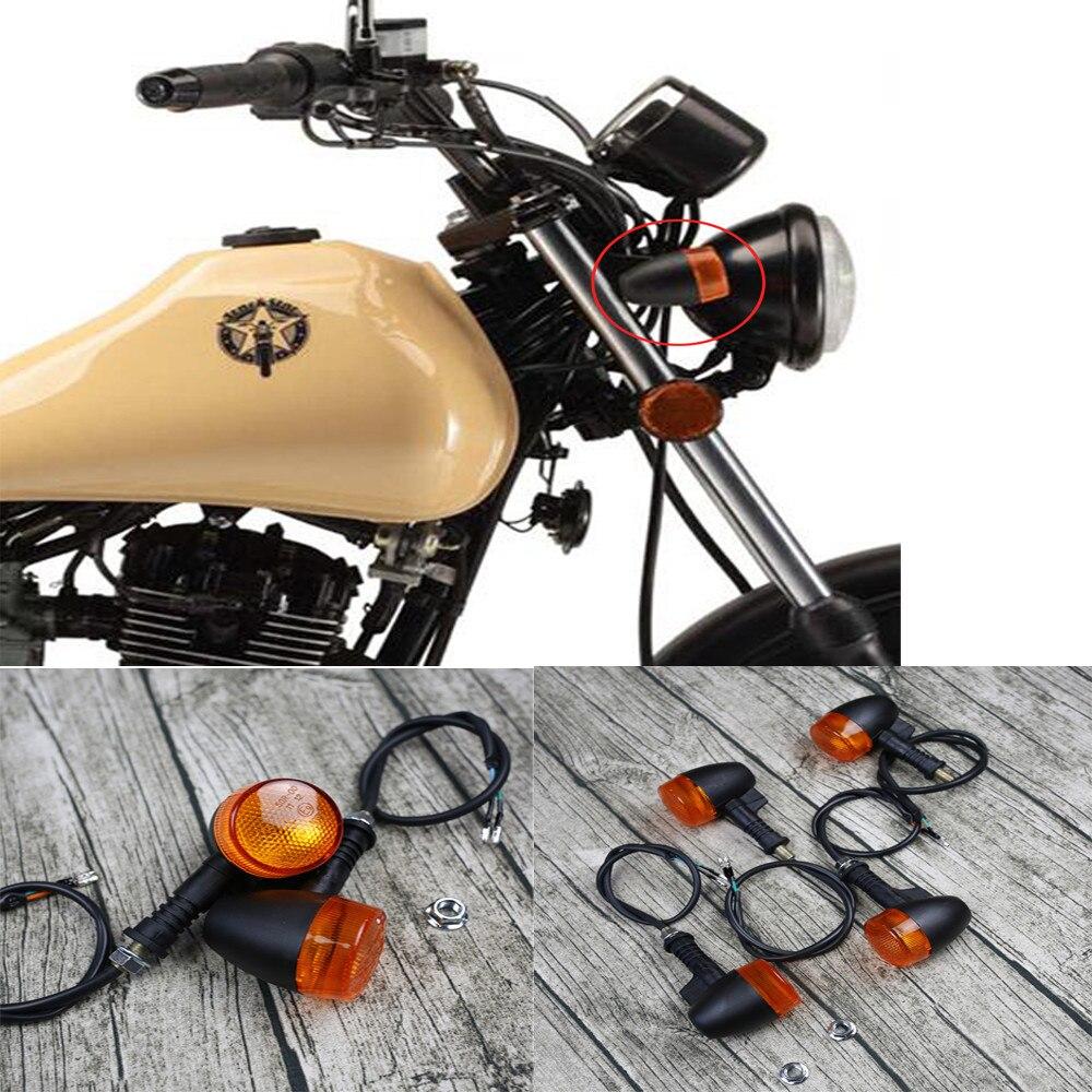 4 pcs Universale Del Motociclo Indicatore di Direzione Lampada Della Luce di Segnale Lampadine Moto Blinker Faro per Harley/Cafe/Racer Bobber e9