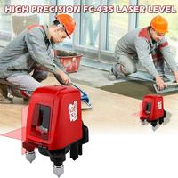 AK435 Laser Level 2 Red Cross Line 1 Point 360 Degree Rotary Self Leveling Nivel A Laser Diagnostic Tools Laser Levels Meter