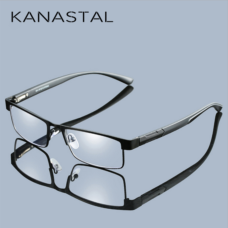 Metal Frame Men Reading Glasses Non Spherical 12 Layer Coated Lenses Vintage Business Hyperopia Prescription Eyewear Free Ship image