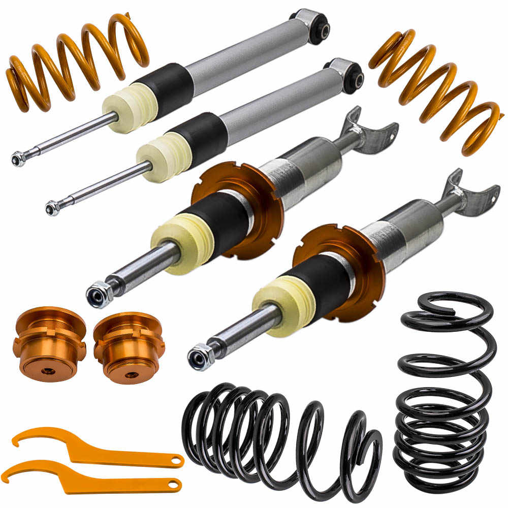 Street Height Adjustable Coilover Kit for Audi A4 B6 B7 (8E) 2WD 2 fronts 2  rear shocks Coilovers Suspension Lowering Kit
