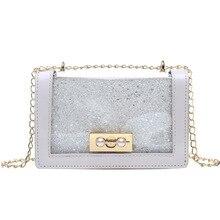 Transparent Small Bag 2019 Jelly Package Chain Single Shoulder Satchel Woman Package handbag luxury handbags women bags designer