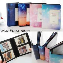 лучшая цена 3 Inch Camera Photo Album Colorful Starry Sky Series Faux Leather Mini Photo Storage Collection Album