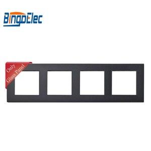 Image 2 - Drie Kleur Vier Socket Frame, Kristal Gehard Glas Frame, 86*299 Mm,