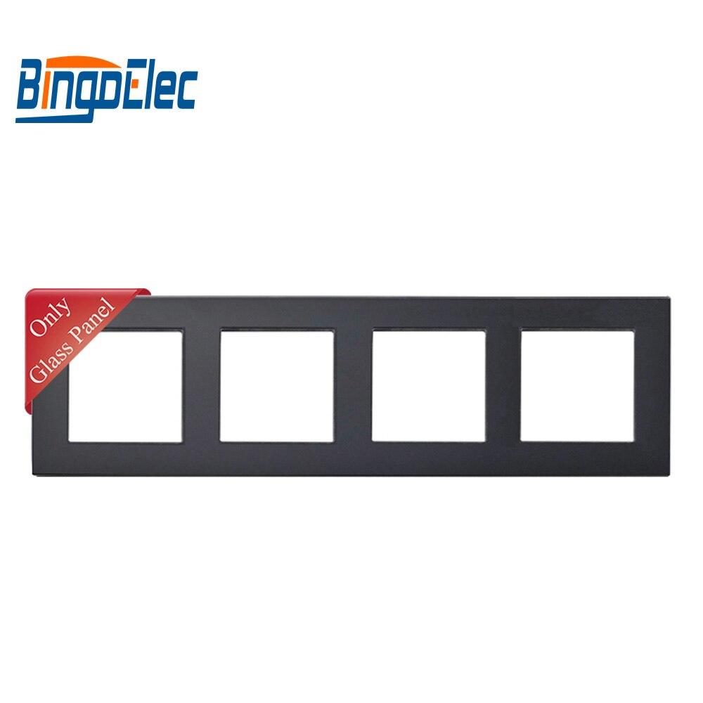 Image 2 - Three color four socket frame,crystal toughened glass frame,86*299mm,socket framecolor socketframe frame -