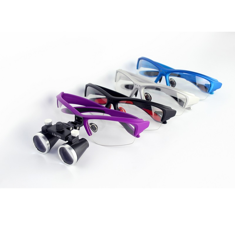 Galilean Binocular Medical Magnifier Dentistry Surgical Dental Glasses Loupes Goggles Protective Spectacles Glasses 2.5X 3.5X