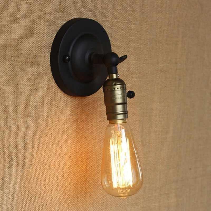 Retro Loft topuz anahtarı Duvar Aplikleri Lambası Minimalist Koridor Yatak Balkon Cafe Ev Mini Dekoratif Duvar aydınlatma armatürü Aydınlatma