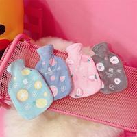Jpanese/милая розовая водонепроницаемая сумка в Корейском стиле для девочек, Взрывозащищенная плюшевая моющаяся теплая водонепроницаемая сум...