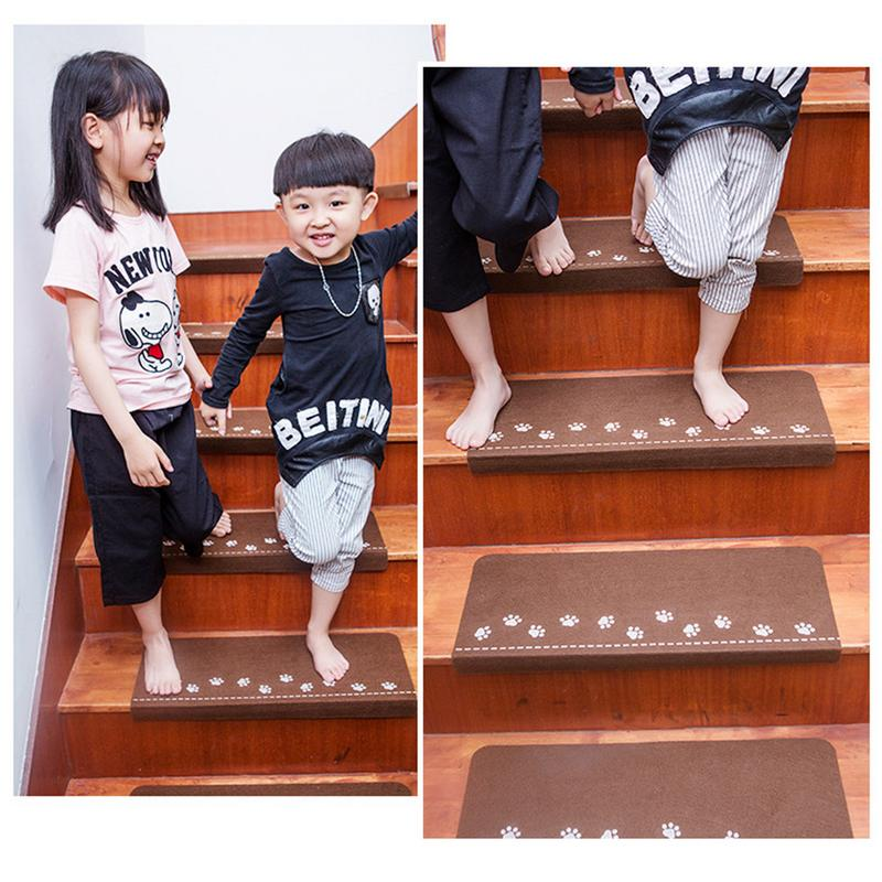 5PCS Safety Luminous Mat Anti-slip Stairway Carpet Household Supplies Self-adhesive Stairs Floor Sticker Pads Children Protector