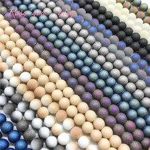 Партиями по 6/8/10 мм Высокое качество матовые стеклянные бусины, круглые бусины ювелирные изделия DIY ювелирных изделий браслет ожерелье производства