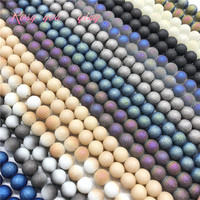 Wholesale 6/8/10mm high quality frosted glass beads, round beads DIY jewelry jewelry bracelet necklace production