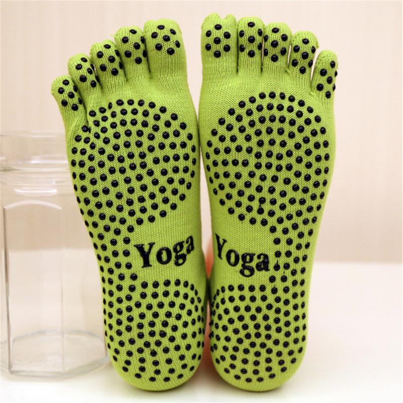 Women Yoga Socks Anti-slip Five Fingers Dance Socks Ballet Gym Fitness Sports Pilates Cotton Breathable Socks 2019 Funny Sock