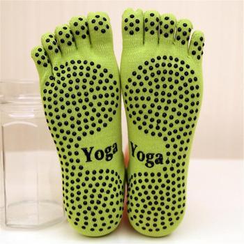 Kobiety joga skarpetki antypoślizgowe pięć palców skarpetki do tańca balet siłownia sport Pilates bawełniane oddychające skarpety 2019 śmieszne skarpety tanie i dobre opinie SOCKS WOMEN Five Toes Socks Cotton Free Size
