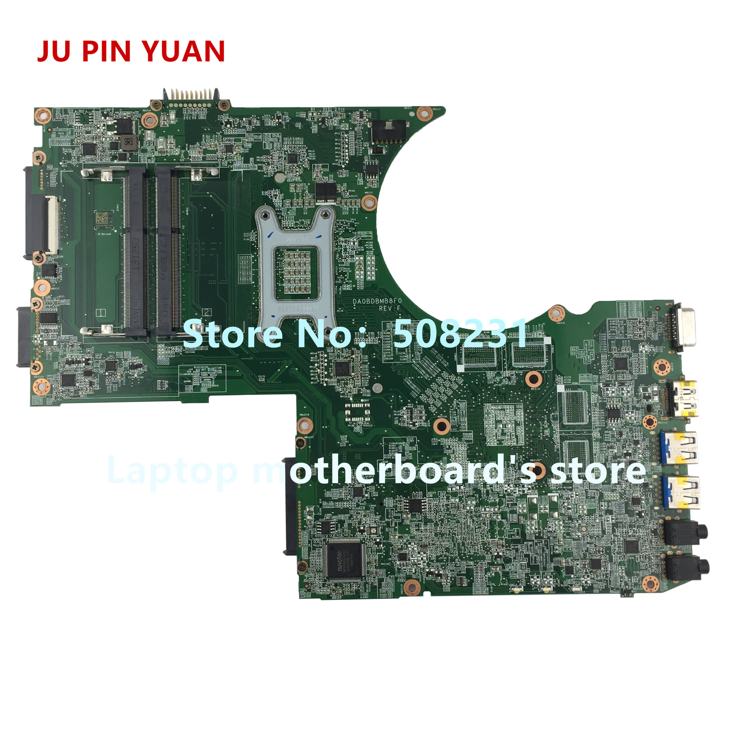 Купить с кэшбэком JU PIN YUAN A000241250 For toshiba satellite P70 P75 laptop motherboard DA0BDBMB8F0 HM86 Socket PGA 947 fully Tested