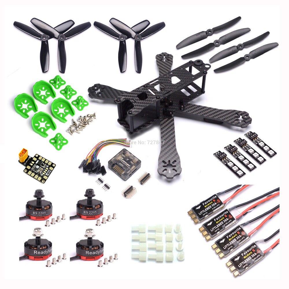 QAV R 220mm Carbon Fiber Racing Drone Quadcopter QAV R 220 F3 Flight Controller RS2205 2300KV Motor LittleBee 30A S ESC BLHeli-in Parts & Accessories from Toys & Hobbies