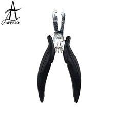 u-образные плоскогубцы, 4 мм, 6 мм, квадратный наконечник для микро колец, человеческие волосы для наращивания, нержавеющая сталь, инструменты для наращивания волос