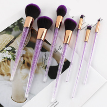 Purple Unicorn Make Up Brushes Portable Foundation
